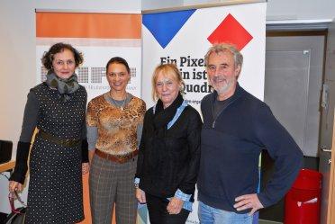 Annetraut Lutz-Weicken, Dr. Julia Dordel, Liane Jessen, Karl Maier, Foto: Guido Tölke